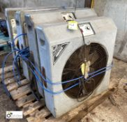 4 Andrews VSF 50 variable speed Fans, 240volts (please note this lot has a lift out fee of £10