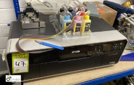 Epson Stylus Photo R3000 Colour Inkjet Printer (LOCATION: Penistone) (please note there is a lift