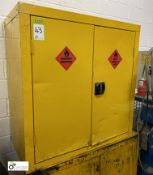 Steel double door Flammables Cabinet, 900mm x 900mm x 450mm (LOCATION: Penistone) (please note there