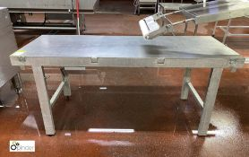 Stainless steel Table, 1820mm x 660mm x 790mm high (please note there is a lift out fee of £10