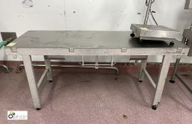 Stainless steel Preparation Table, 1820mm x 660mm x 820mm high (please note there is a lift out
