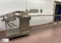 Weber CCE twin deck transport Conveyor, belt width 420mm, year 2003, serial number 6419, 400volts (