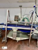 KAJ Olesen FB200 Lane Reducing Conveyor, 1900mm x 1320mm wide, 230volts, year 2007 [Please note this