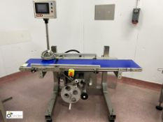 Pals Conveyor Labelling Unit, belt width 300mm, belt length 1500mm (please note there is a lift