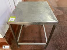 Stainless steel Preparation Table, 710mm x 600mm x 700mm high (please note there is a lift out fee
