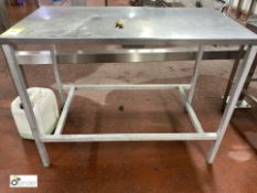 Stainless steel Preparation Table, 1140mm x 610mm x 880mm high (please note there is a lift out