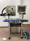 Espera ESD524 Programmable Labeller, with inbuilt conveyor (please note there is a lift out fee