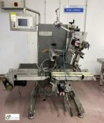 MR MR335 Labelling System, with control panel and integrated conveyor, belt width 200mm, 240volts (