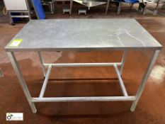 Stainless steel Preparation Table, 1140mm x 600mm x 840mm high (please note there is a lift out