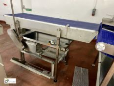Stainless steel powered Final Inspection Conveyor, 2060mm x 600mm belt width [Please note this lot