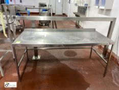 Stainless steel Preparation Table, 1730mm x 760mm x 800mm high (please note there is a lift out