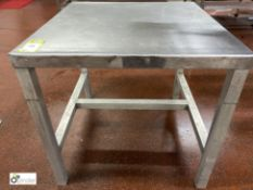 Stainless steel Preparation Table, 860mm x 900mm x 820mm high (please note there is a lift out fee