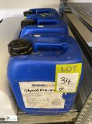 3 10litre tubs Kingspan Glycol Pre Mix Solar Heat Transfer Liquid (LOCATION: Boston Spa)