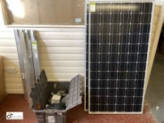 3 Solar Panels, 1590mm x 810mm, with mounting brackets, cables, etc (LOCATION: Boston Spa)