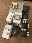 Quantity Electrical Switches and Connector Boxes (