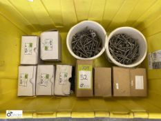 Approx 1000 stainless steel Screws, to bin (LOCATION: Boston Spa)