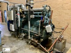 Martins M.C.6V250.TM wood gas fired Generator, serial number 250.019, year 2010, designed to run