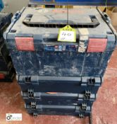 4 Bosch stackable Power Tool Boxes (LOCATION: Boston Spa)