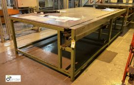 Scope steel fabricated Plate Inspection Table, ove
