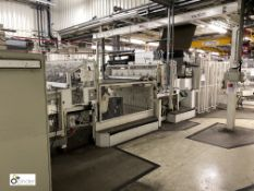 Lambert Engineering NR7 Roll to Sheet Line, adapted to produce underfloor heating plates, comprising