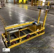 Steel 6-wheel manual push Roll Cart, 1295mm long (