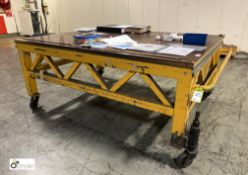 Heavy duty steel fabricated mobile Plate Measuring