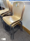 3 beech effect stackable Refectory Chairs (located in Restaurant)