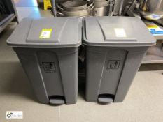2 foot operated Waste Bins (located in Kitchen)