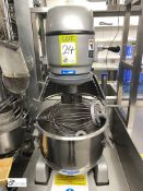 JET-20l-8 Commercial Food Mixer, 20litres, 240volts, with dough hook, paddle and whisk attachments