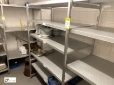 2 double bay adjustable multi-shelf Racks (located in Kitchen)