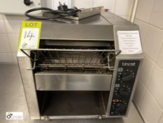Lincat CT1 Commercial Toaster, 240volts (located in Kitchen)