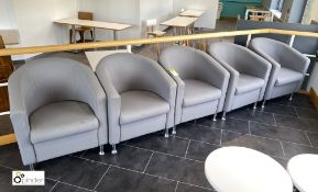 5 upholstered Tub Chairs, grey (located in Restaurant)
