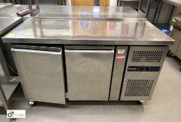 Blizzard LBC2SL mobile stainless steel double door Freezer Counter, 1350mm x 600mm x 850mm (