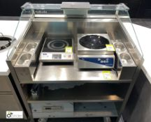 Electrolux Libero Point mobile stainless steel 3-shelf Chilled Food Preparation Counter (located