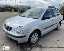 VW 1.2S petrol 5-door Polo, registration: FX02 RXZ, date of registration: 8 March 2002, odometer: