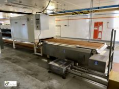 Cooling Tunnel with Hosakawa Kreuter BKK1300 cooling unit, year 2015, top and bottom cooling,