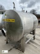 Stainless steel Tank, 1500mm diameter x 2100mm length (location: Croxton) (please note there is a
