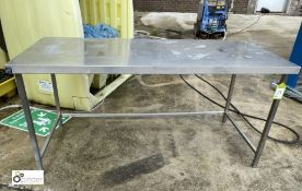 Parry stainless steel Preparation Table, 1800mm x 800mm (please note there is a lift out fee of £5