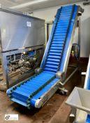 West Country Conveyors stainless steel mobile Swan Neck Conveyor, 480mm belt width, 2700mm full