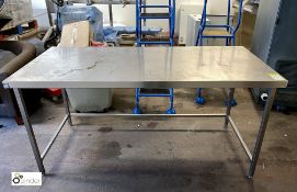 Stainless steel Preparation Table, 1800mm x 800mm (please note there is a lift out fee of £5 on this