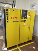 Kaeser BSD62 Packaged Rotary Screw Air Compressor, rated power 30kw, rated motor speed 2960 1/min,
