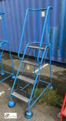 Tubular framed mobile 4-tread Access Platform (please note there is a lift out fee of £5 on this