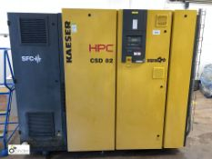 Kaeser CSD82SFC Packaged Rotary Screw Air Compressor, rated power 45kw, rated motor speed 3000 1/