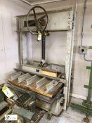 Interwood FSI manual Platen Press, 1000mm x 1110mm, serial number 68, year 1957