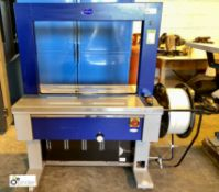 Optimax TRS600 semi auto Strapping Machine, 240volts, serial number 1708026148, year 2017 (please