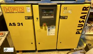 HPC AS31 Packaged Air Compressor, 7.5bar max working pressure, 400volts, serial number 1198 (