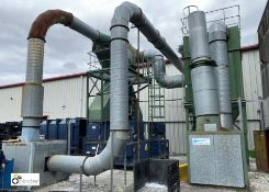 Waste Paper Extraction System comprising 2 Chopper fans, Heaton Green dust extraction unit,