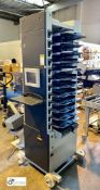 Watkiss Digivac DIG 12-station Vertical Collator, 240volts, serial number WA/DIG445, with jogger (