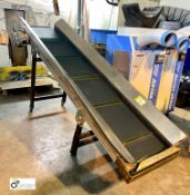 Schuma Pro-En 2400/500/S40 KL6 Inclined Belt Conveyor, 2400mm x 500mm belt width, 400volts, max
