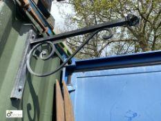 Wrought iron pub Lantern Bracket, 32in long x 21in high